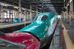 Iwate Japonia, Kwiecień, - 27,2014: E5 i E6 serii Shinkansen pociska pociągi Obraz Stock