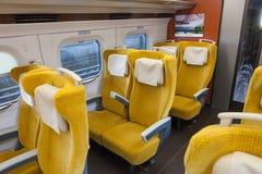 Iwate Japonia, Kwiecień, - 27,2014: Wśrodku E6 Shinkansen serii Fotografia Royalty Free