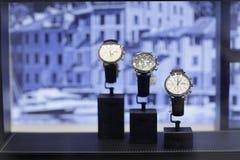 IWC Luxury watches on display Stock Photo