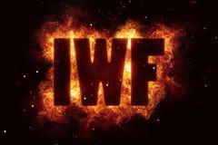 Iwf finance eu euro dollar bank banking fire flame flames burn. Hot Royalty Free Stock Images