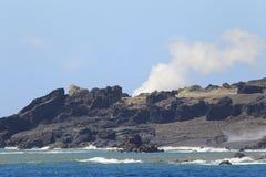 Iwo Island. (volcanic islands) in Ogasawara Islands, Japan Royalty Free Stock Images