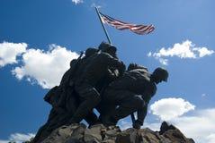 Iwo Jima海洋纪念品 库存照片