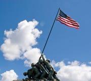 Iwo Jima纪念品雕象 免版税图库摄影