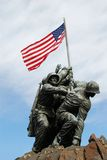 Iwo Jima纪念碑 免版税库存照片