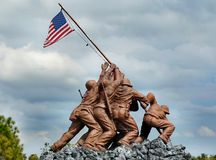 Iwo Jima. Replica of the Iwo Jima memorial statue royalty free stock photography