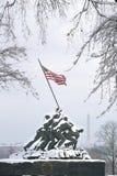 Iwo Jima en neige de l'hiver Photos libres de droits
