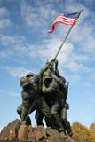 Iwo Jima Marine Memorial. Marine Memorial in Washington DC depicting US marines raising the US flag Stock Images