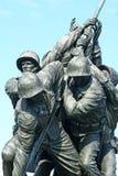 Iwo Jima Marine Memorial. Marine Memorial in Washington DC depicting US marines raising the US flag Stock Image