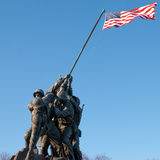 Iwo Jima Memorial. United States Marine Corps War Memorial depicts the famous flag raising on Iwo Jima during World War II. The memorial is dedicated to all Royalty Free Stock Photography