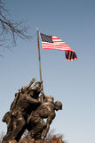 Iwo Jima Memorial. United States Marine Corps War Memorial depicts the famous flag raising on Iwo Jima during World War II. The memorial is dedicated to all Stock Images