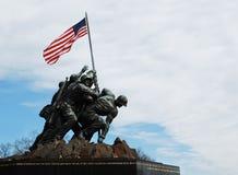Iwo Jima Memorial. Photo of the famous Iwo Jima memorial near Arlington National Cemetery in Rosslyn, Virginia, USA Stock Photo