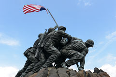Iwo Jima Memorial. WASHINGTON DC - AUGUST 20: Iwo Jima statue in Washington DC on August 20, 2012. The statue honors the Marines who have died defending the US Royalty Free Stock Photography