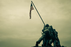 Iwo Jima Memorial. WASHINGTON DC - AUGUST 19: Iwo Jima statue in Washington DC on August 19, 2012. The statue honors the Marines who have died defending the US Stock Photos
