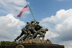 Iwo Jima Memorial. WASHINGTON DC - AUGUST 20: Iwo Jima statue in Washington DC on August 20, 2012. The statue honors the Marines who have died defending the US Royalty Free Stock Image