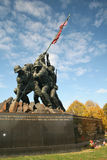 Iwo Jima Memorial. Marine Memorial in Washington DC depicting US marines raising the US flag Royalty Free Stock Photo
