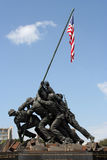 Iwo Jima Memorial. Statue memorial from the picture of the Marine Corps raising the flag on Iwo Jima Royalty Free Stock Photos