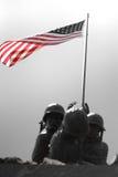 Iwo Jima Memorial. Detail of the Iwo Jima Memorial Statue located in New Britain, Connecticut Stock Photo