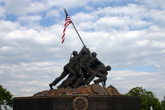 Iwo Jima Memorial. US Marine memorial in Arlington, VA Stock Image