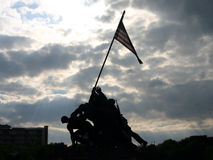 Iwo Jima Memorial. US Marine memorial in Arlington, VA Royalty Free Stock Photo