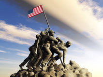Iwo Jima Memorial Stock Image