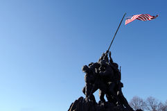 Iwo Jima Memorial with copyspace Stock Image