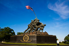 Iwo Jima Memorial i Washington DC Arkivbilder