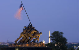 Iwo Jima Memorial i Washington DC, USA Arkivbilder