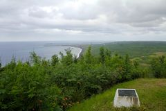 Iwo Jima Memorial på Mt Suribachi arkivbild