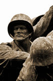 Iwo Jima Memorial statue in Arlington. Royalty Free Stock Images