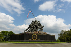 Iwo Jima Memorial. WASHINGTON DC - AUGUST 20: Iwo Jima statue in Washington DC on August 20, 2012. The statue honors the Marines who have died defending the US Royalty Free Stock Images
