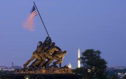 Iwo Jima Memorial in Washington DC, de V stock afbeeldingen