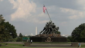 Iwo Jima Memorial stock video