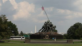 Iwo Jima Memorial stock video footage