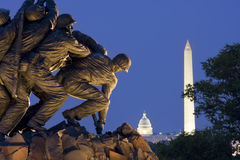 Iwo Jima Memorial in Washington DC, USA. Iwo Jima Memorial in Washington DC. The Memorial honors the Marines who have died defending the US since 1775 Royalty Free Stock Photo