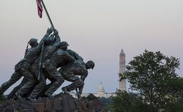 Iwo Jima statua w washington dc Zdjęcia Royalty Free