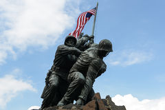Iwo Jima Statue. WASHINGTON DC - AUGUST 20: Iwo Jima statue in Washington DC on August 20, 2012. The statue honors the Marines who have died defending the US Royalty Free Stock Photography