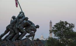 Iwo Jima-Statue im Washington DC lizenzfreie stockfotos