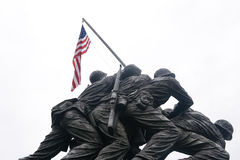 Iwo Jima Statue on White. WASHINGTON DC - AUGUST 19: Iwo Jima statue in Washington DC on August 19, 2012. The statue honors the Marines who have died defending Stock Images
