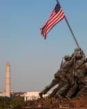 Iwo Jima staty i Washington DC Fotografering för Bildbyråer