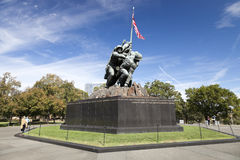 Iwo Jima staty - Washington DC, USA Arkivfoton