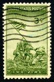 Iwo Jima USA portostämpel Royaltyfria Bilder