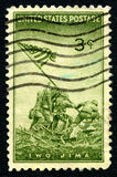 Iwo Jima USA Postage Stamp Royalty Free Stock Images