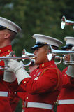 Iwo Jima War Memorial Arlington - Sunset Ceremony Royalty Free Stock Photo