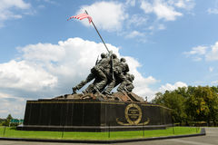 Iwo Jima Washington DC. WASHINGTON DC - AUGUST 20: Iwo Jima statue in Washington DC on August 20, 2012. The statue honors the Marines who have died defending the Stock Images