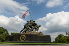 Iwo Jima Washington DC. WASHINGTON DC - AUGUST 20: Iwo Jima statue in Washington DC on August 20, 2012. The statue honors the Marines who have died defending the Royalty Free Stock Image