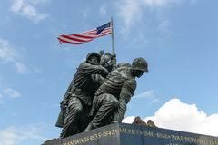 Iwo Jima Washington DC. WASHINGTON DC - AUGUST 20: Iwo Jima statue in Washington DC on August 20, 2012. The statue honors the Marines who have died defending the Royalty Free Stock Images