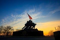 Iwo Jima washington dc Pamiątkowy usa przy wschodem słońca Fotografia Stock