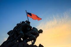 Iwo Jima washington dc Pamiątkowy usa przy wschodem słońca Zdjęcie Royalty Free