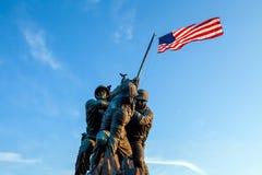 Iwo Jima washington dc Pamiątkowy usa przy wschodem słońca Fotografia Royalty Free