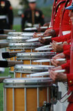Iwo- Jimakrieg ErinnerungsArlington - Sonnenuntergang-Zeremonie Lizenzfreie Stockbilder